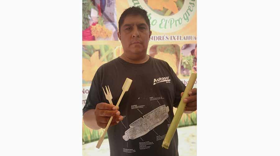 Productos de carrizo, alternativa para sustituir plásticos en Oaxaca