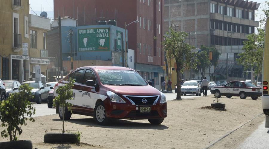 Taxis foráneos de Oaxaca, continúan con  exceso de pasajeros