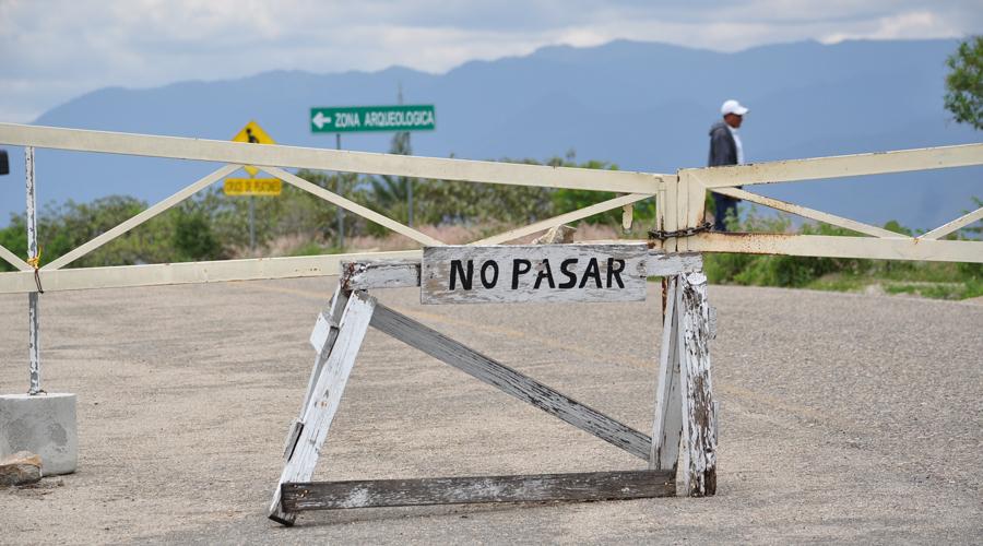 En riesgo zona arqueológica de Monte Albán