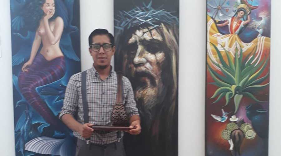 Reconocen al artista Óscar Rodríguez