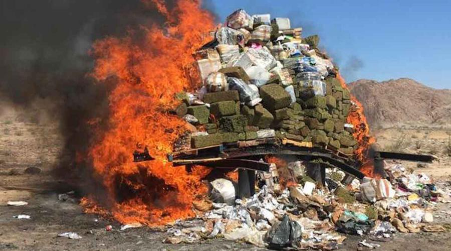 Video: Así quemaron más de cinco toneladas de narcóticos | El Imparcial de Oaxaca