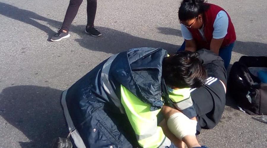 Arrollan a ciclista en avenida Derechos Humanos