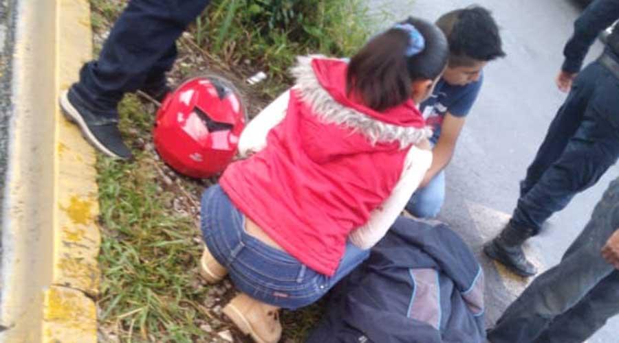 Mujer derrapa violentamente en la colonia Estrella | El Imparcial de Oaxaca