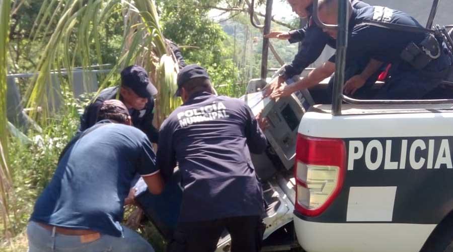 Hallan desbalijado cajero atracado en la Costa