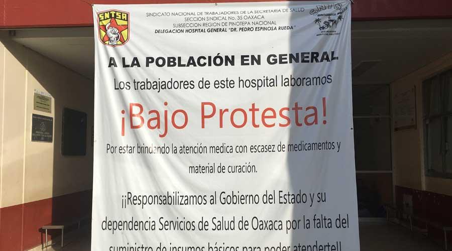 Continúa paro en hospital de Pinotepa Nacional | El Imparcial de Oaxaca