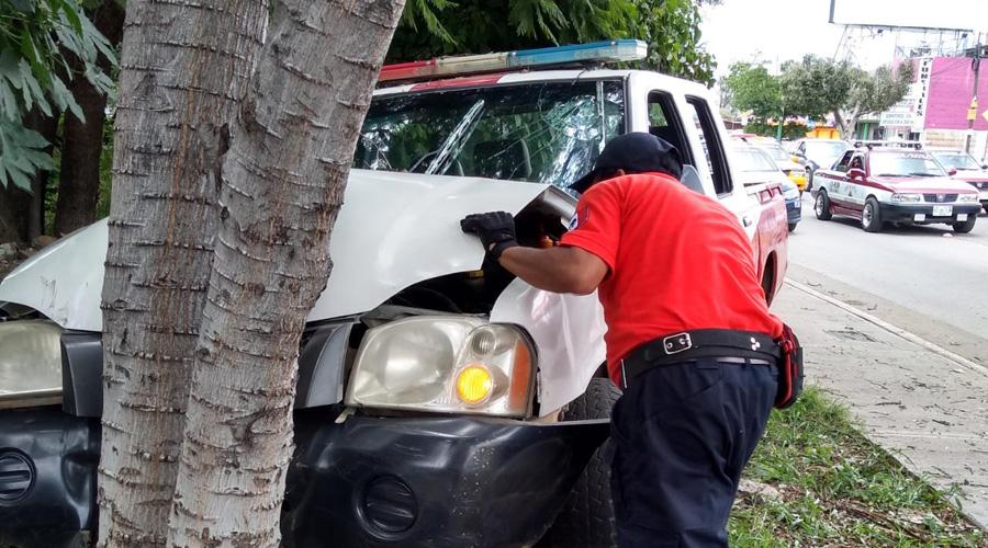 Choque en Xoxocotlán deja cuatro personas lesionadas