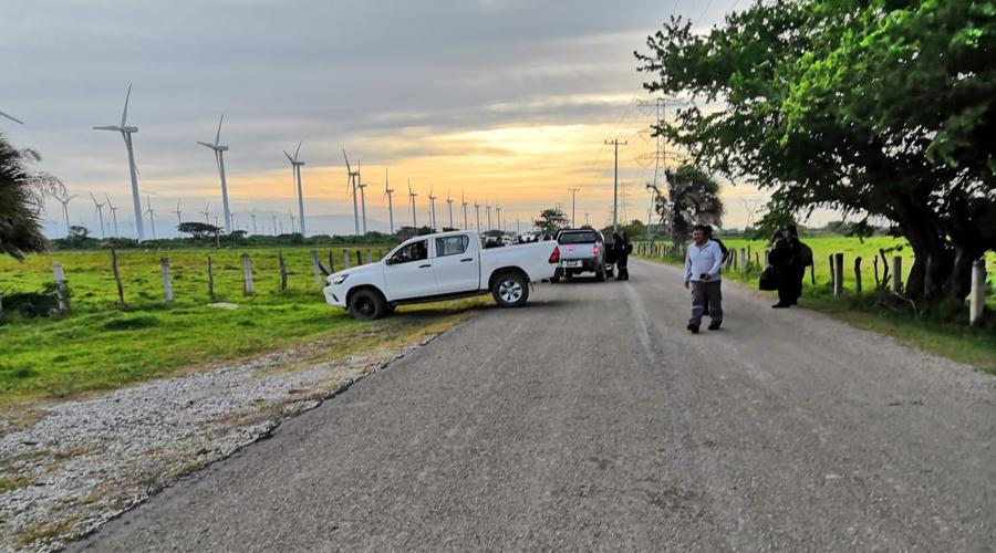 En La Ventosa, cierran parque eólico por despido de un trabajador