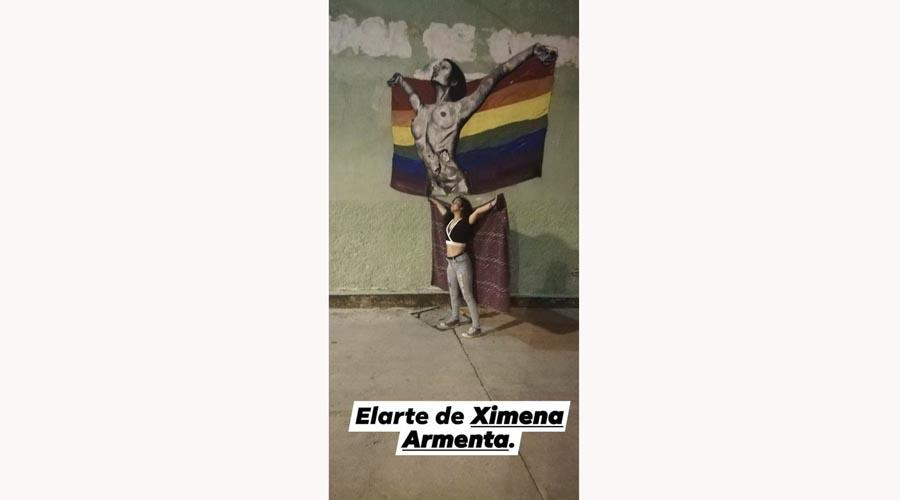 En Tlaxiaco, borran mural de la diversidad sexual