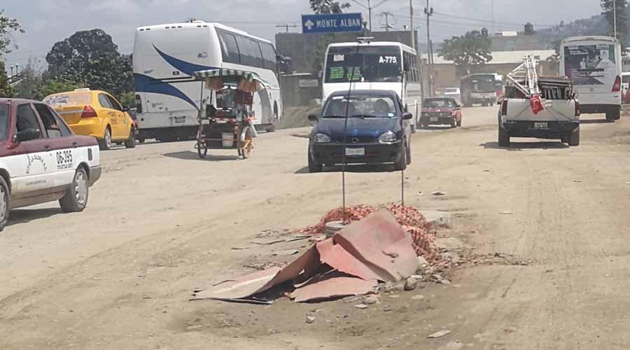 Hacen Tequio; abandonan obras inconclusas en la capital de Oaxaca