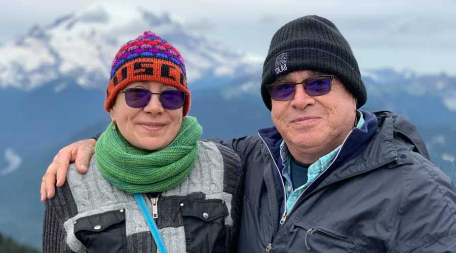Lorena  y Rodolfo cumplieron 37 años de casados