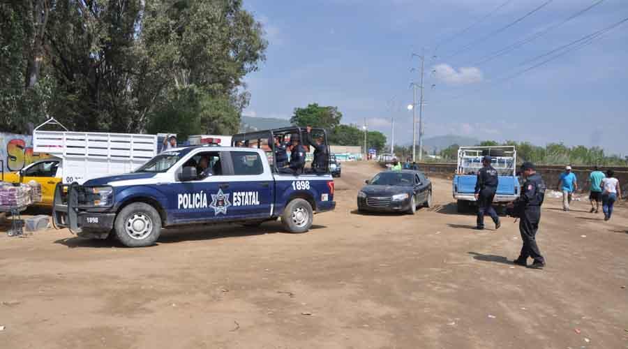 Resguarda policía, playón de la Central de Abasto de Oaxaca