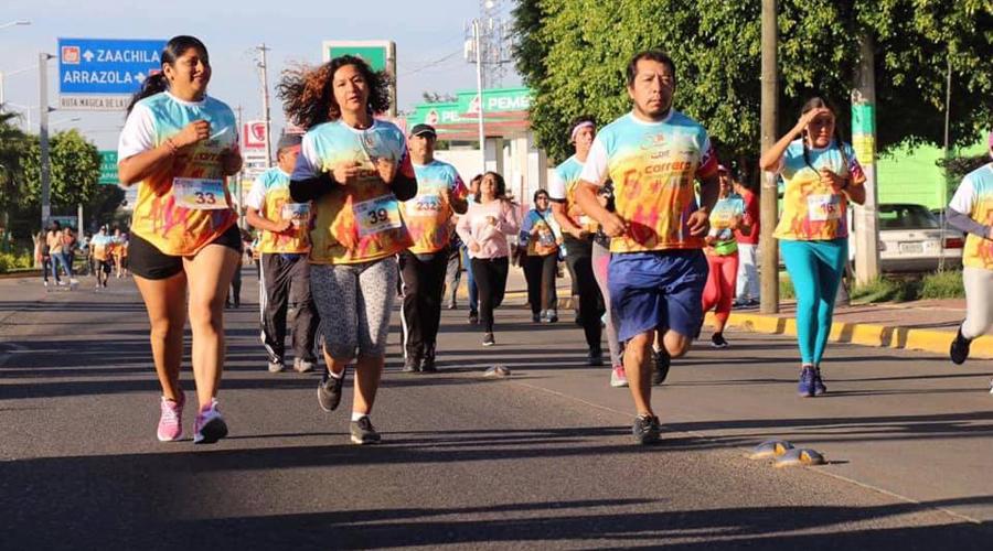 Corren contra las adicciones en Xoxocotlán