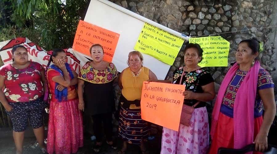 Durante la Guelaguetza, protestan damnificados de Juchitán | El Imparcial de Oaxaca