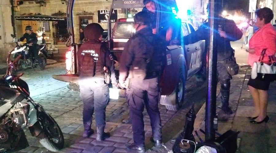 Joven es acusado por daños en calle céntrica de la ciudad capital