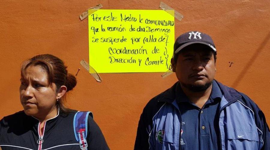 Piden salida de la sección 22 en secundaria de la Volcanes | El Imparcial de Oaxaca