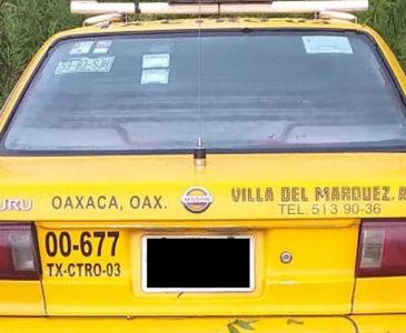 Desaparece taxista, abandonan unidad en San Javier Xoxocotlán