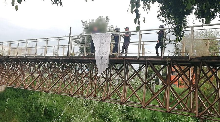 Hallan manta en puente del Río Salado