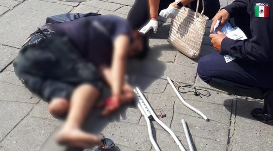 Persona con discapacidad es atropellada en pleno Centro Histórico | El Imparcial de Oaxaca