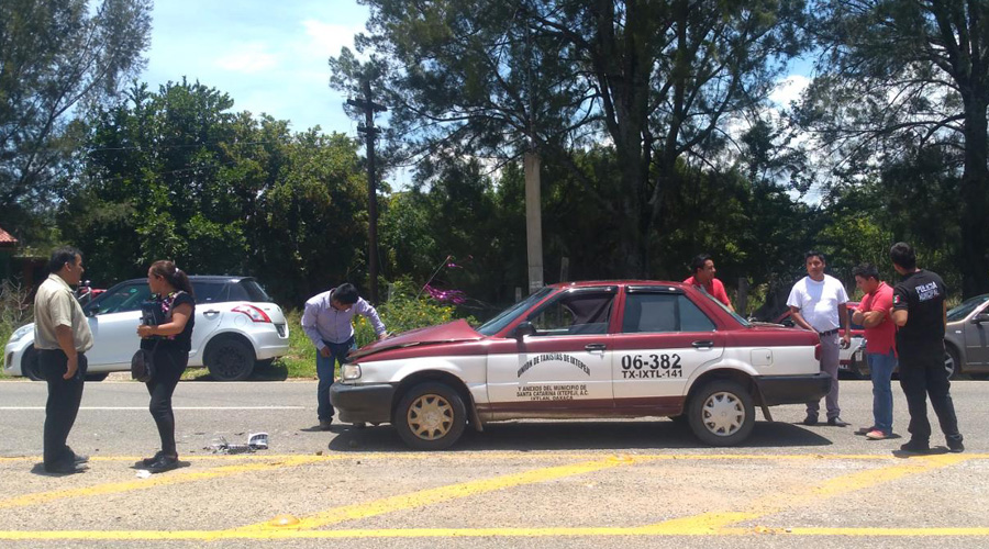 Choque entre imprudentes en Yatareni | El Imparcial de Oaxaca