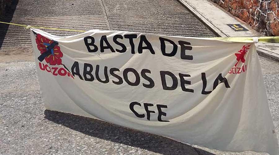 Continúa inconformidad contra CFE en la zona norte del Istmo