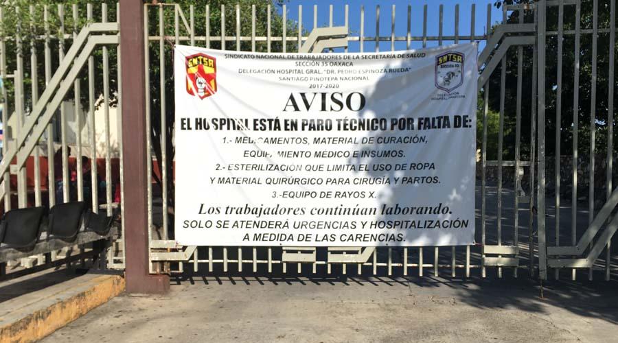"""Continúa paro laboral en el Hospital Regional """"Pedro Espinoza Rueda"""""""