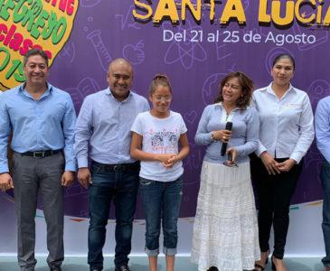 Inauguran en Santa Lucía del Camino Feria de Regreso a Clases