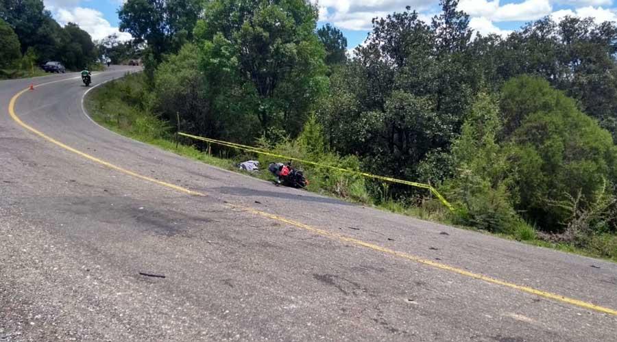 Motociclista pierde la vida en Tlaxiaco