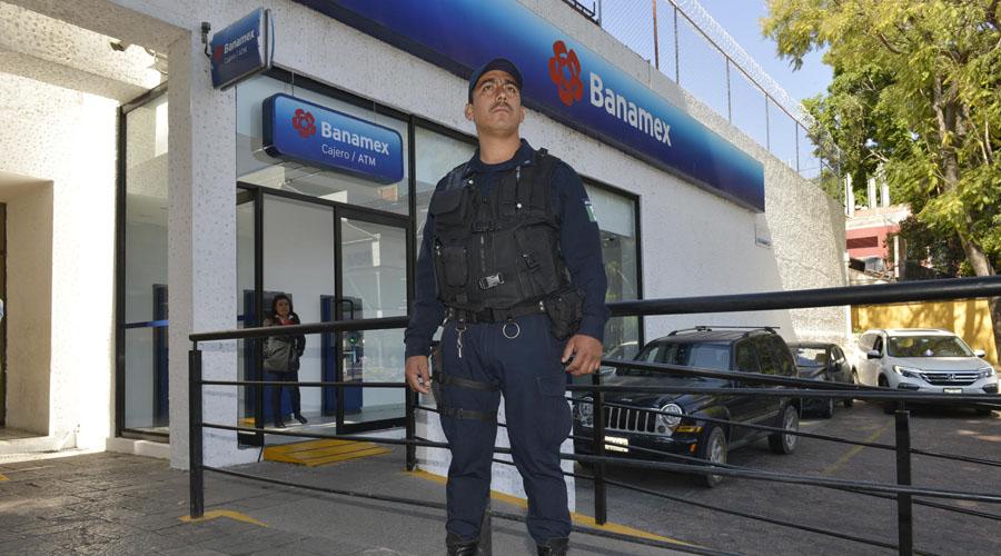 Exigen una mayor  vigilancia en las sucursales bancarias de Oaxaca