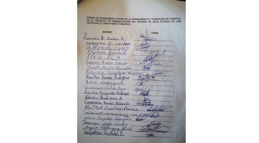 Habitantes de San Agustinillo exigen rendición de cuentas