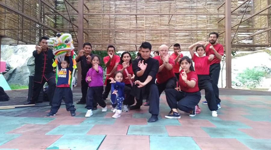 Mostraron su kung fu