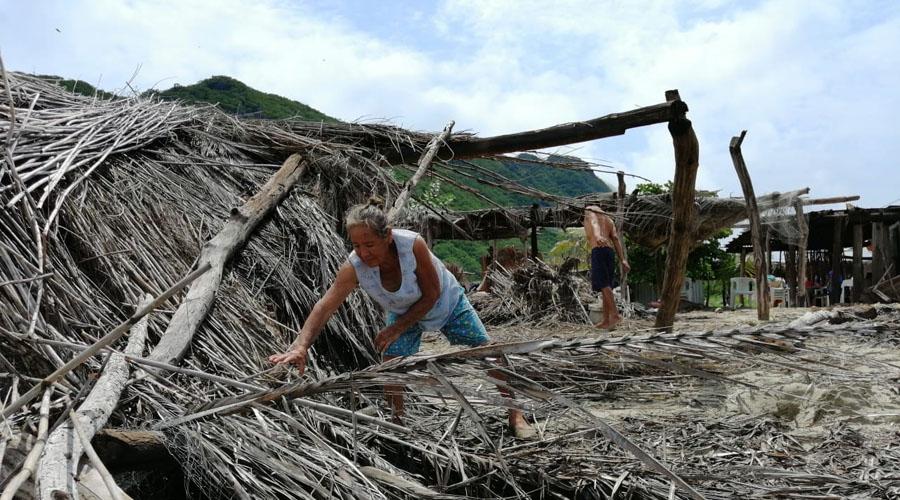 Playa Chipehua, una zona devastada por el mal tiempo