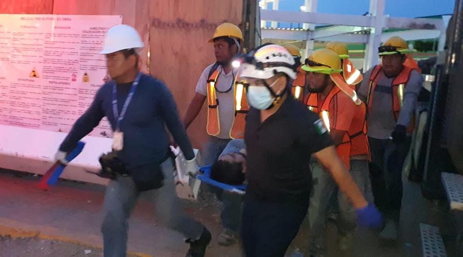 En Juchitán, sufre trabajador fuerte descarga eléctrica