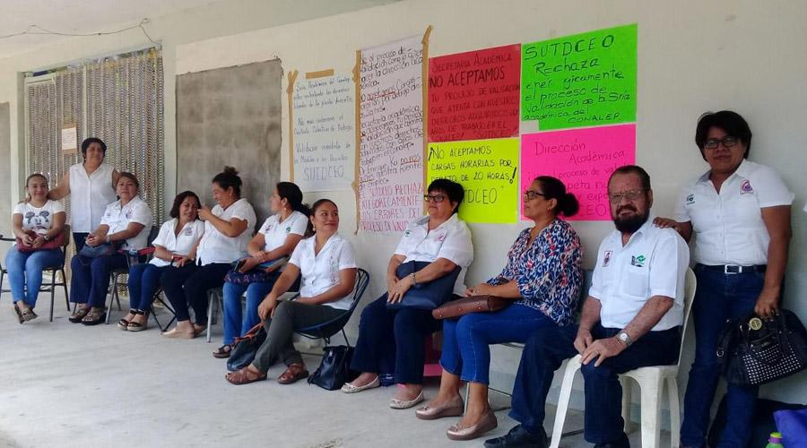 Protestan profesores del Conalep de Salina Cruz | El Imparcial de Oaxaca