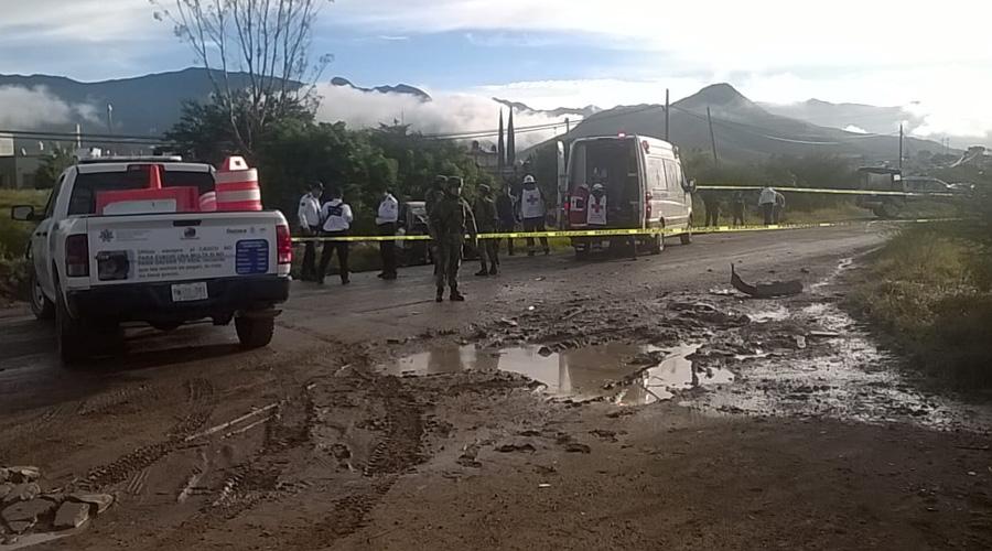 ¡Colisión mortal! en la carretera Villa Díaz Ordaz a Tlacolula