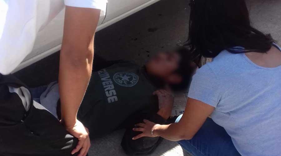 Motociclista grave tras percance vial en el centro de Huajuapan