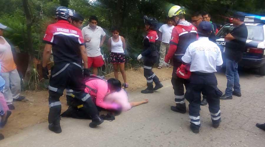 Chofer de Sertexa tira a su pasajera en la Central de Abasto | El Imparcial de Oaxaca