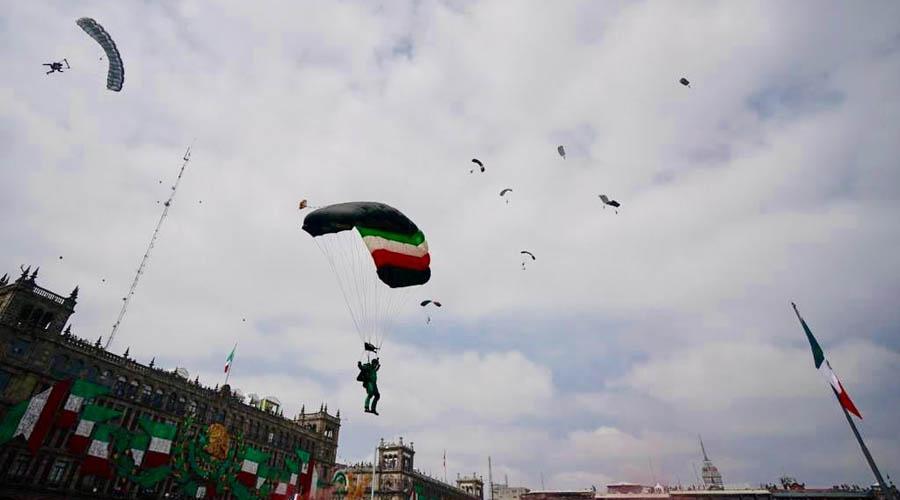 Reportan estable a paracaidista que se lesionó en Desfile Militar | El Imparcial de Oaxaca