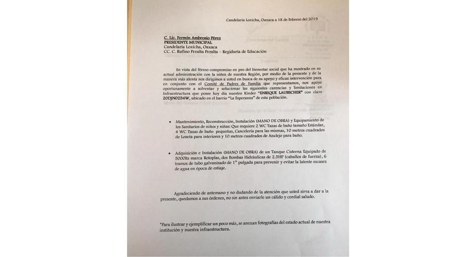 Denuncian en Candelaria Loxicha, desvío de recursos económicos