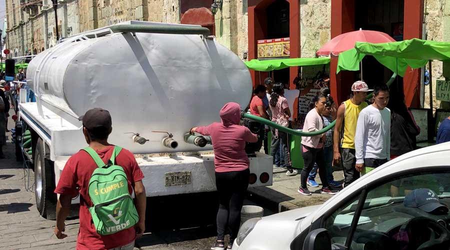El Centro Histórico de Oaxaca se queda sin agua potable