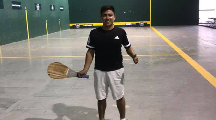El oaxaqueño Mauricio Mestas busca asistir al Mundial Juvenil de Frontón 2019