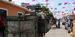 Recolectores de basura protestan en La Ventosa