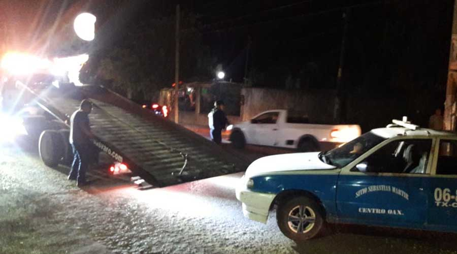 Otra más de los azules; Hiere taxista a automovilista en Santa Lucia del Camino