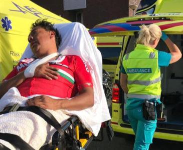 Paraciclista oaxaqueño sufre caída en Holanda