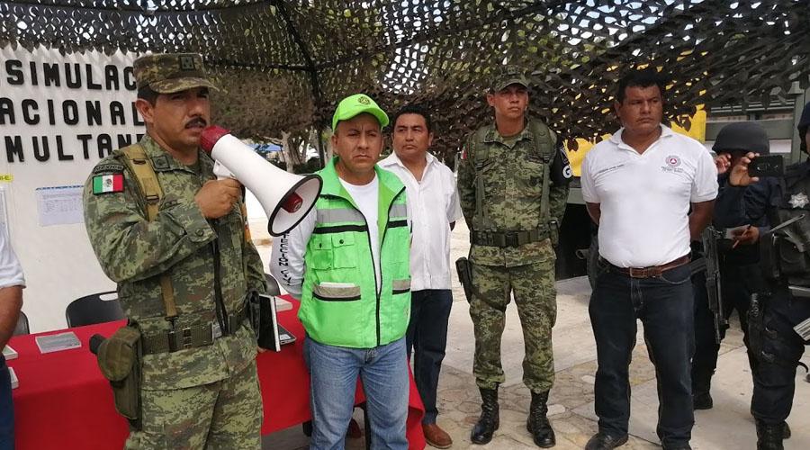 Se suma Puerto Escondido al macrosimulacro | El Imparcial de Oaxaca