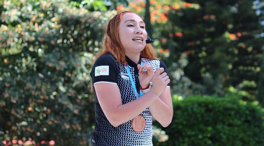 La medallista de bronce en los Juegos Panamericanos convive con estudiantes