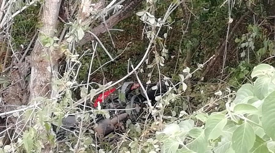 """""""Vuela"""" motociclista y cae a profundo barranco en la 175   El Imparcial de Oaxaca"""