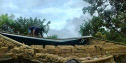 Vivienda se queda sin techo por lluvias en la Costa