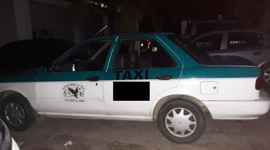 Tripulantes de taxi iban bien armados en San Pedro Pochutla