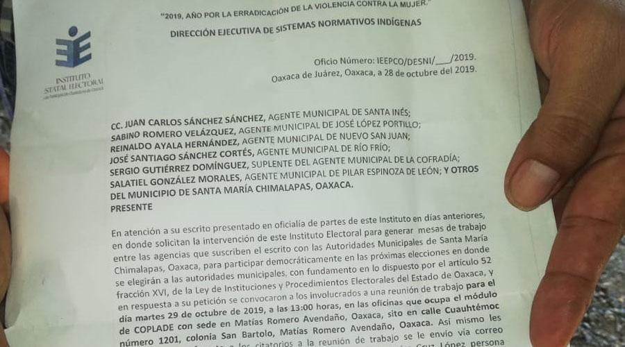 IEEPCO suspende una reunión en los Chimalapas