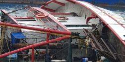 Se hunde barco pesquero en Salina Cruz